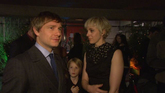 debbie isitt and martin freeman at the nativity london premiere at london england - martin freeman stock videos and b-roll footage