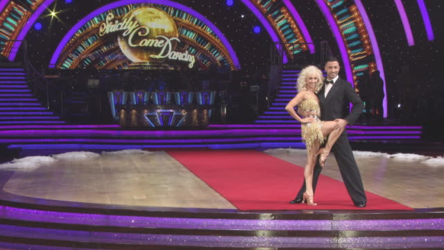 Debbie McGee Giovanni Pernice at 'Strictly Come Dancing' The Live Tour The Live Tour at Arena Birmingham on January 18 2018 in Birmingham England