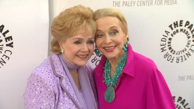 debbie reynolds and anne jeffreys at the the paley center for media presents a special premiere viewing & reception, 'debbie reynolds: the exhibit'... - debbie reynolds stock-videos und b-roll-filmmaterial