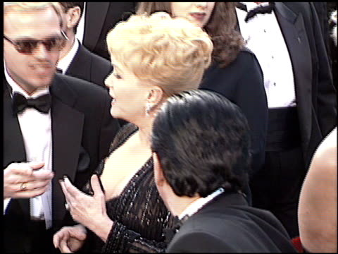 debbie reynolds at the 1997 academy awards arrivals at the shrine auditorium in los angeles california on march 24 1997 - 69th annual academy awards stock videos and b-roll footage