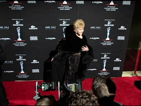 debbie reynolds at the 7th annual costume designers guild awards gala at the beverly hilton in beverly hills, california on february 19, 2005. - debbie reynolds stock-videos und b-roll-filmmaterial