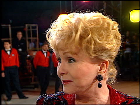 debbie reynolds at the american comedy awards at the shrine auditorium in los angeles, california on february 9, 1997. - debbie reynolds stock-videos und b-roll-filmmaterial