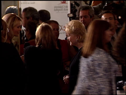 debbie reynolds at the runway for life celeb fashion show at the beverly hilton in beverly hills, california on august 19, 2003. - debbie reynolds stock-videos und b-roll-filmmaterial