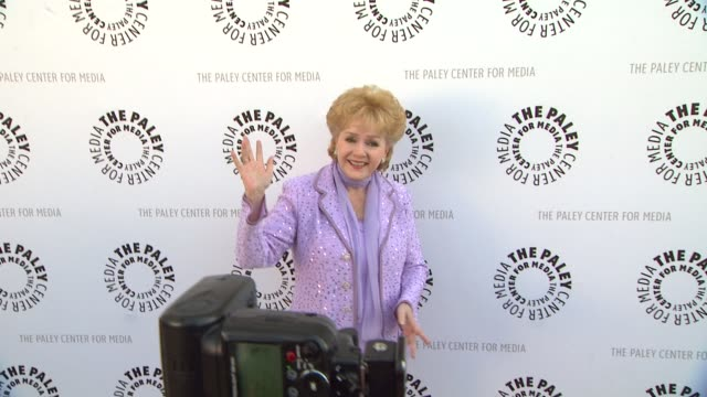 debbie reynolds at the the paley center for media presents a special premiere viewing & reception, 'debbie reynolds: the exhibit' at beverly hills ca. - debbie reynolds stock-videos und b-roll-filmmaterial