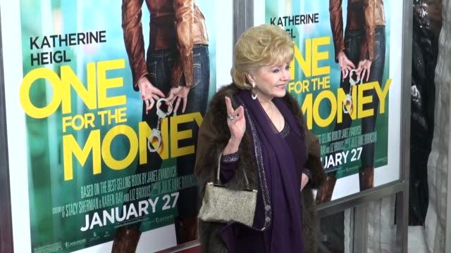 debbie reynolds attends the 'one for the money' premiere 01/24/12 in celebrity sightings in new york - debbie reynolds stock-videos und b-roll-filmmaterial