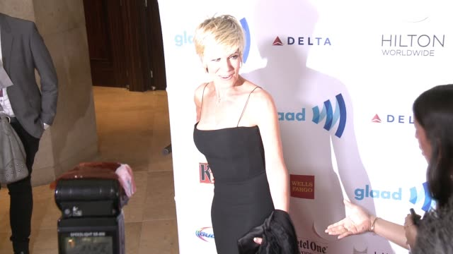 debby boone at the 25th annual glaad media awards at the beverly hilton hotel on april 12 2014 in beverly hills california - ビバリーヒルトンホテル点の映像素材/bロール