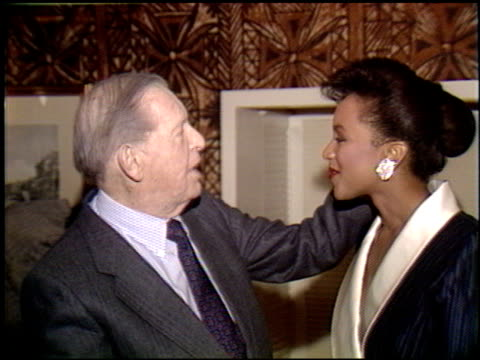 debbye turner at the miss america / merv griffin reception at trader vic's in beverly hills california on march 5 1990 - griffin stock videos & royalty-free footage