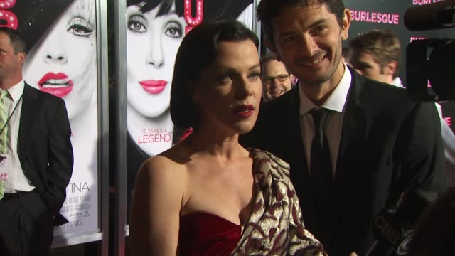 debi mazar at the 'burlesque' premiere at hollywood ca. - burlesque stock videos & royalty-free footage