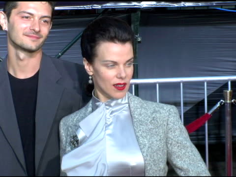 debi mazar at the 'collateral' los angeles premiere at the orpheum theatre in los angeles, california on august 2, 2004. - orpheum theatre stock videos & royalty-free footage