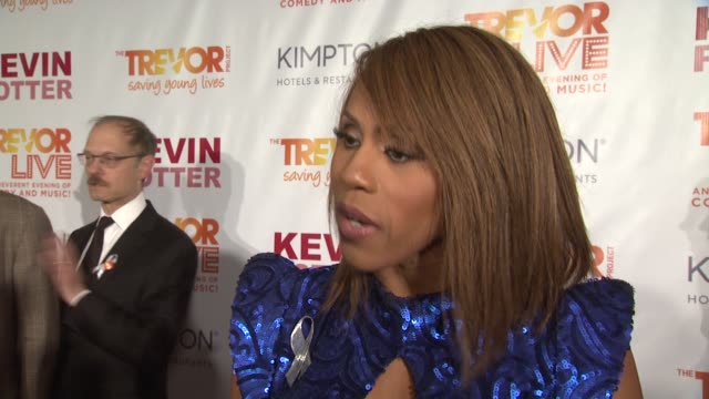 interview deborah cox talks about lending her voice to supporting young lgbtq people at the trevor project's trevorlive new york at marriott marquis... - marriott marquis new york stock videos & royalty-free footage