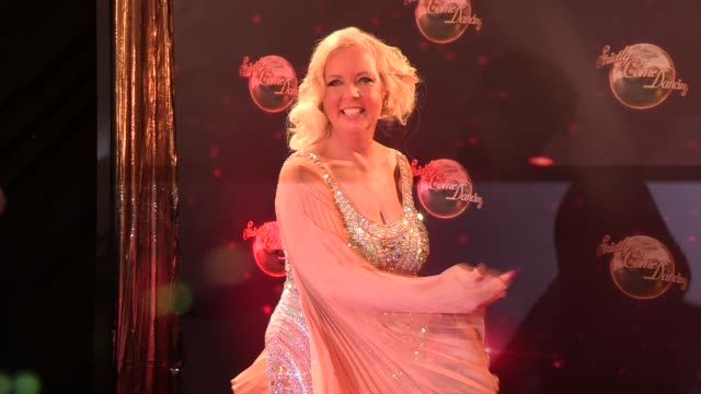 deborah meaden at strictly come dancing at elstree studios on september 03 2013 in borehamwood england - ハートフォードシャー点の映像素材/bロール
