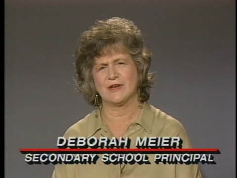 deborah meier secondary school principal says that parents teachers and students need to work together - junior high stock videos & royalty-free footage
