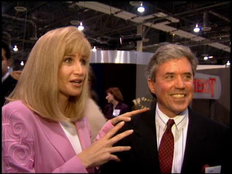 vídeos de stock e filmes b-roll de deborah norville at the natpe convention on january 25, 1995. - natpe convention