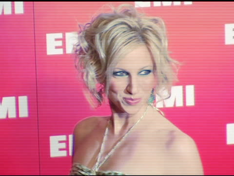 debra gibson at the emi post-grammy awards bash at the beverly hilton in beverly hills, california on february 13, 2005. - emi grammy party stock videos & royalty-free footage