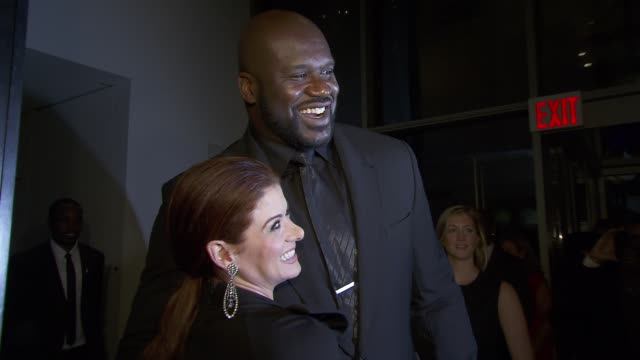 Debra Messing and Shaquille O'Neal at United Nations Every Woman Every Child Dinner 2012 at MOMA on September 25 2012 in New York New York
