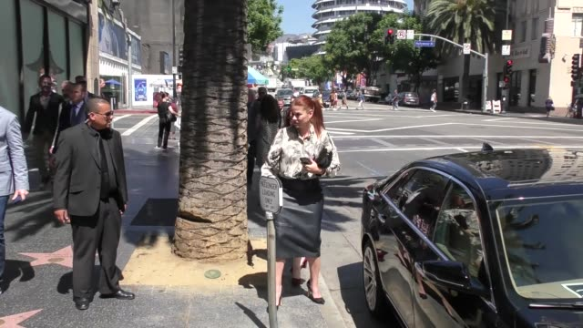 debra messing arrives at katsuya after eric mccormack's star ceremony on the hollywood walk of fame in hollywood in celebrity sightings in los... - eric mccormack stock videos & royalty-free footage