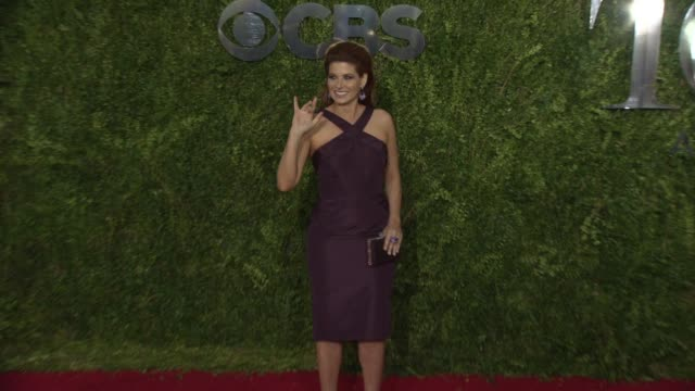 debra messing at 2015 tony awards arrivals at radio city music hall on june 07 2015 in new york city - debra messing stock videos and b-roll footage