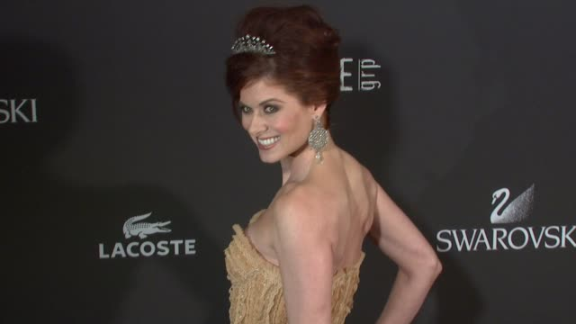 debra messing at the 11th annual costume designer guild awards at los angeles ca - 2009 stock videos & royalty-free footage