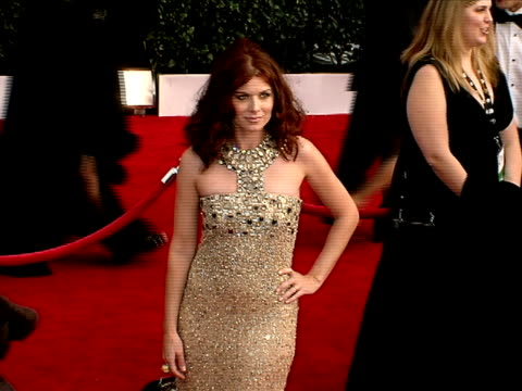 debra messing at the 14th annual screen actors guild awards at los angeles ca - debra messing stock-videos und b-roll-filmmaterial