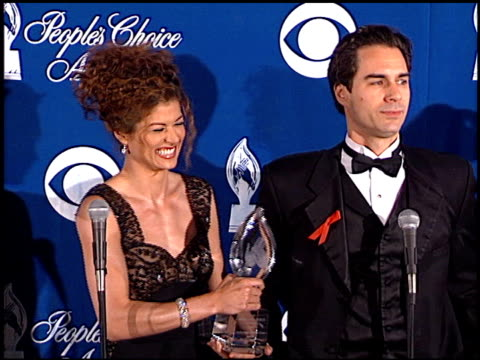debra messing at the 1999 people's choice awards at the pasadena civic auditorium in pasadena california on january 10 1999 - debra messing stock videos and b-roll footage