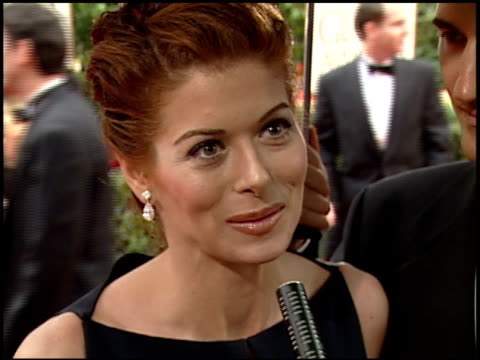 Debra Messing at the 2000 Golden Globe Awards at the Beverly Hilton in Beverly Hills California on January 23 2000