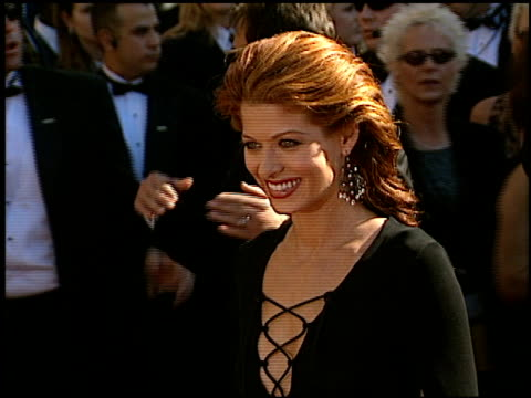 debra messing at the 2002 emmy awards at the shrine auditorium in los angeles california on september 22 2002 - debra messing stock videos and b-roll footage