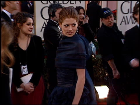 debra messing at the 2002 golden globe awards at the beverly hilton in beverly hills california on january 20 2002 - debra messing stock videos and b-roll footage