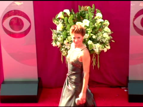 debra messing at the 2005 emmy awards at the shrine auditorium in los angeles california on september 18 2005 - debra messing stock videos and b-roll footage