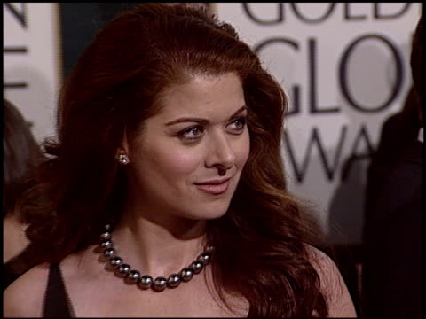 Debra Messing at the 2005 Golden Globe Awards at the Beverly Hilton in Beverly Hills California on January 16 2005