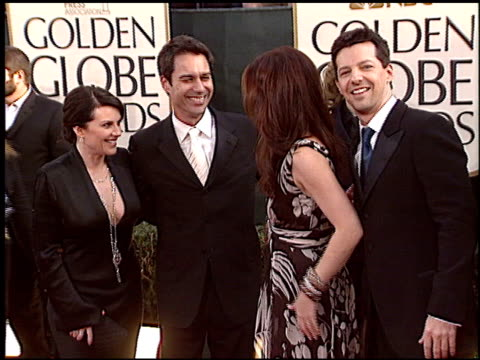Debra Messing at the 2006 Golden Globe Awards at the Beverly Hilton in Beverly Hills California on January 16 2006