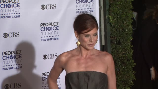 Debra Messing at the 35th Annual People's Choice Awards at Los Angeles CA