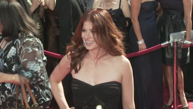 debra messing at the 60th primetime emmy awards at los angeles ca - debra messing stock videos and b-roll footage