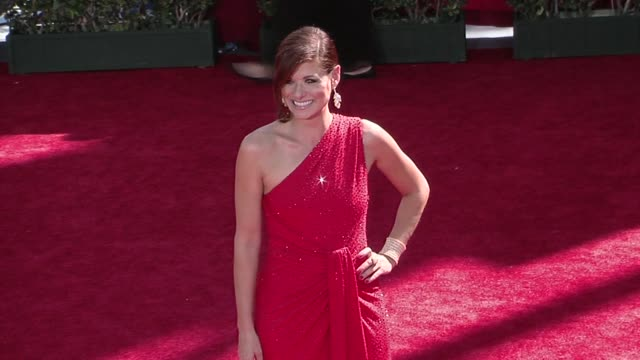 debra messing at the 61st annual primetime emmy awards arrivals part 2 at los angeles ca - debra messing stock videos and b-roll footage