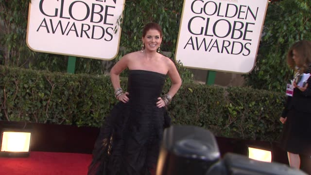 Debra Messing at the 70th Annual Golden Globe Awards Arrivals in Beverly Hills CA on 1/13/13
