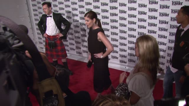 debra messing at the conde nast traveler celebrates 20 years of truth in travel at the cooperhewitt national design museum in new york new york on... - debra messing stock videos and b-roll footage