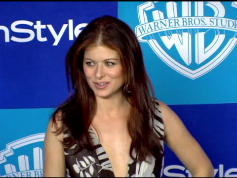 debra messing at the instyle/warner brothers golden globes party at the beverly hilton in beverly hills california on january 16 2006 - debra messing stock-videos und b-roll-filmmaterial