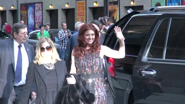 debra messing at the 'late show with david letterman' studio debra messing at the 'late show with david letterm on march 20 2012 in new york new york - debra messing stock videos and b-roll footage