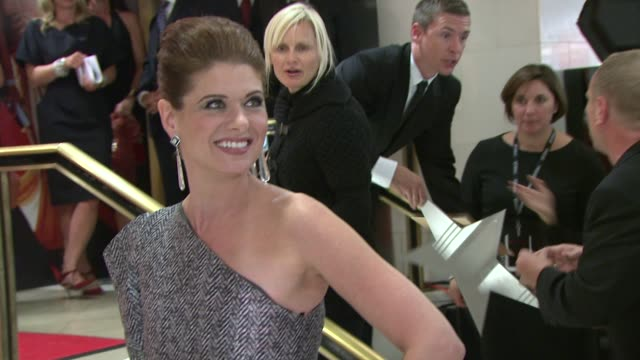 debra messing at the michael kors debra messing bring hollywood to macy's herald square at new york ny - debra messing stock videos and b-roll footage