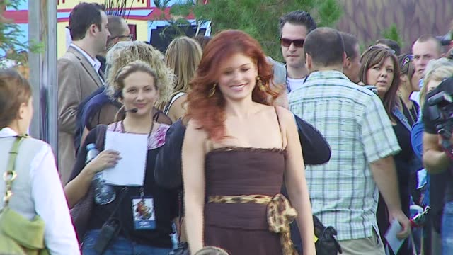 Debra Messing at the 'Open Season' Premiere at the Greek Theater in Los Angeles California on September 25 2006