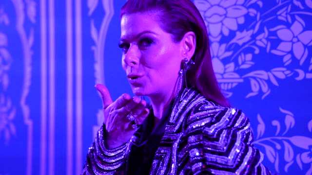 debra messing at tresemme x naeem khan for nyfw at spring studio on february 12 2019 in new york city on january 01 2019 in unspecified unspecified... - debra messing stock videos and b-roll footage