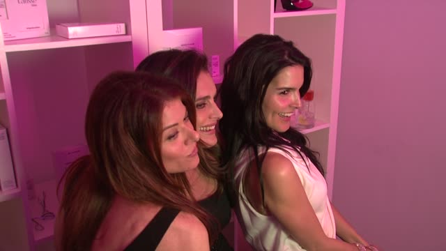 debra messing brooke shields , angie harmon at the launch party for latisse at los angeles ca. - angie harmon stock videos & royalty-free footage