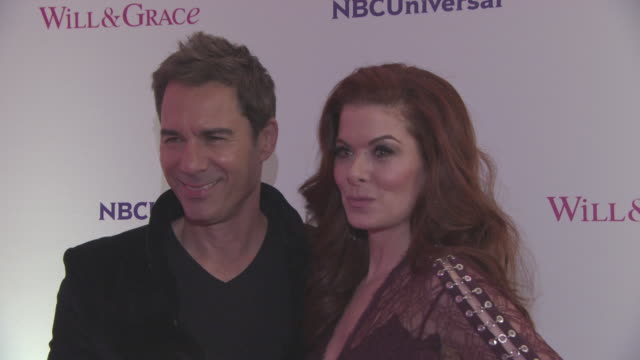 debra messing, eric mccormack at 'will & grace' screening at bafta on february 08, 2018 in london, england. - eric mccormack stock videos & royalty-free footage