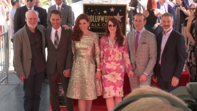 Debra Messing Eric McCormack Max Mutchnick Megan Mullally at Debra Messing Honored with a Star on the Hollywood Walk of Fame on October 06 2017 in...