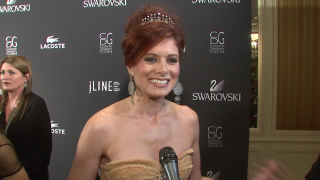 Debra Messing on her love for costume designers her most memorable costume at the 11th Annual Costume Designer Guild Awards at Los Angeles CA