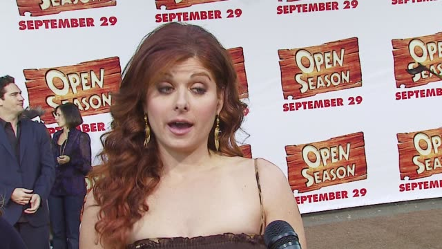 Debra Messing on the movie her character and how she adapted to unfamiliar surroundings while traveling throughout Europe at the 'Open Season'...