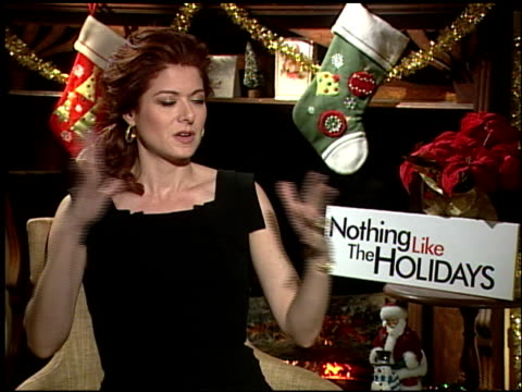 Debra Messing on what about this film that made her want to be apart of it at the 'Nothing Like the Holidays' junket at Los Angeles CA