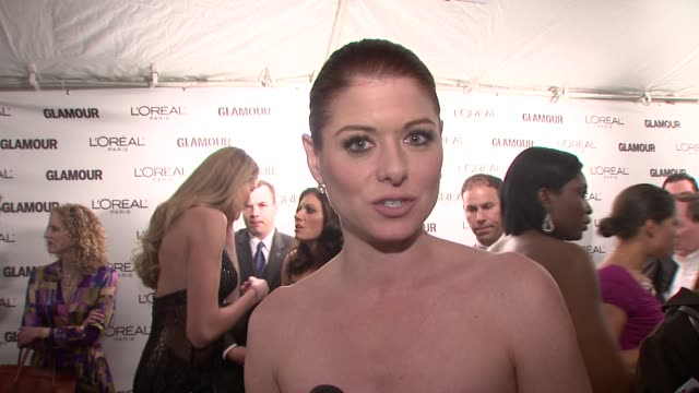 Debra Messing talks about being excited to be out tonight feeling the inspirational energy She talks about what all of these women have in common how...
