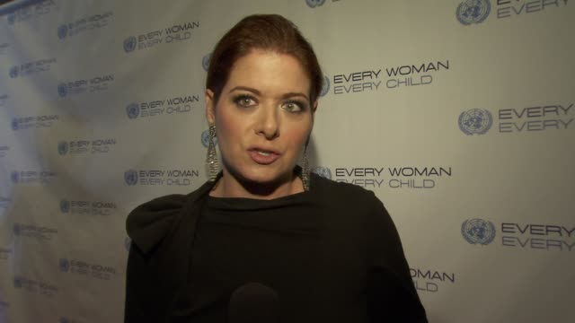 Debra Messing talks about her role as PSI Global Health Ambassador and how the organization supports the Every Woman Every Child initiative at United...
