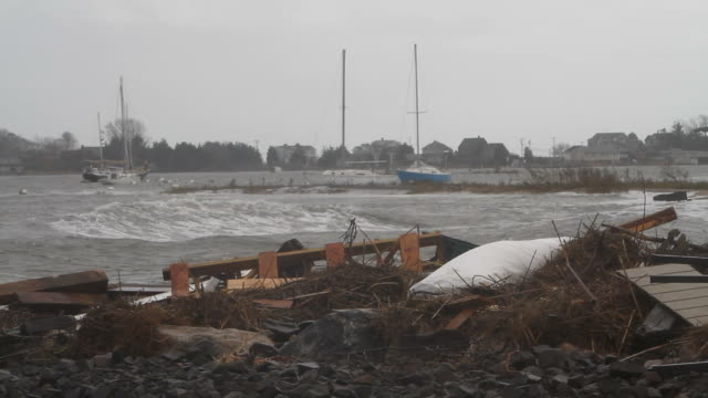 debris from hurricane sandy - environmental cleanup stock videos and b-roll footage