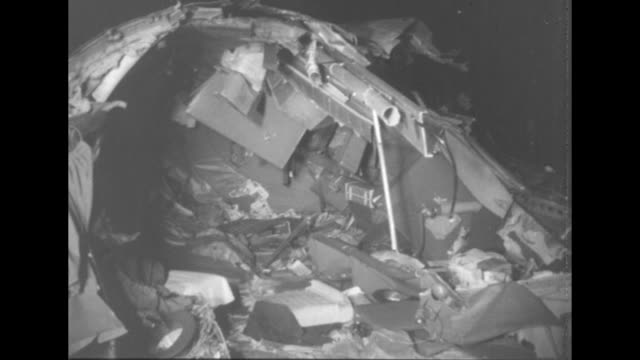 debris from the crash of national airlines flight 101 in elizabeth new jersey - 1952 stock videos & royalty-free footage